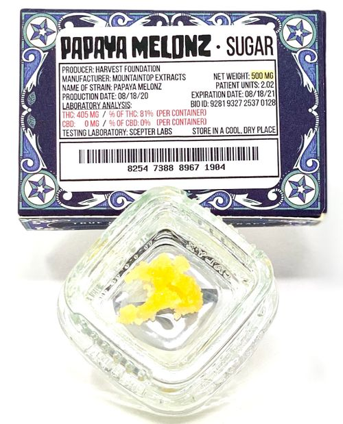 Papaya Melonz Sugar Wax -.5g