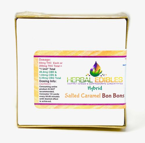 Herbal Edible Bon Bon (Salted Caramel) 4pk 200mg