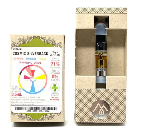 Cosmic Silverback Vape Cartridge -.5g