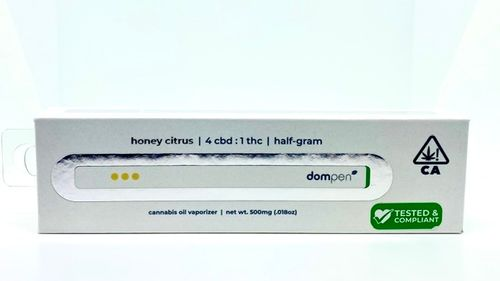 Dom Pen Disposable .5G CBD 4:1 THC Honey Citrus
