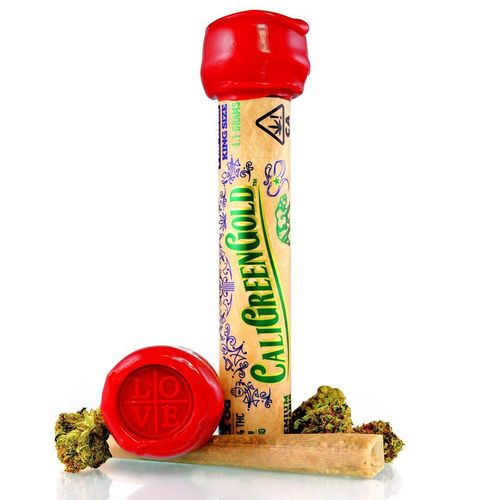 CaliGreenGold Infused Joint 1g Indica Watermelon Punch