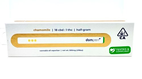 Dom Pen Disposable .5g CBD 18:1 Chamomile