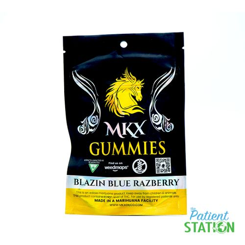 Blazin Blue Razpberry Gummy (100mg)