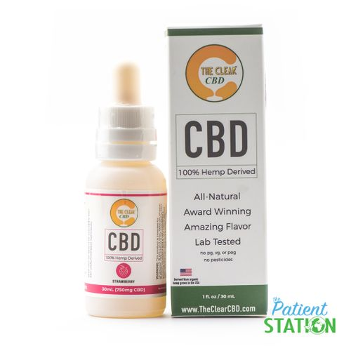 The Clear - CBD Tincture 750mg (Strawberry)