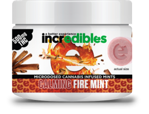 Incredibles Indica Fire Mints 500mg