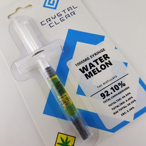 Watermelon Syringe 1g, Crystal Clear