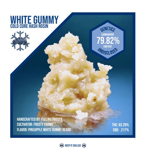 White Gummy Cold Cure Rosin 1g