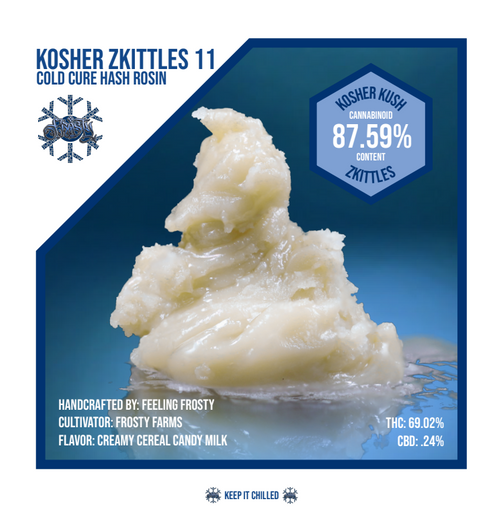 Kosher Zkittlez Cold Cure Rosin 1g