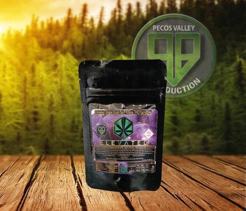 Elevated Grape Drops 100mg THC