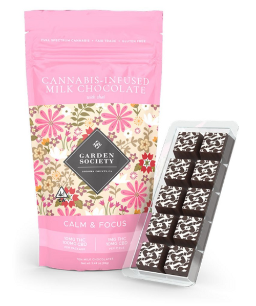 Garden Society-CBD Chai Milk Chocolate 10mg