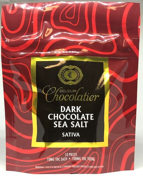 Encore Chocolate - Sativa Dark Chocolate Sea Salt - 10mg x 10pc