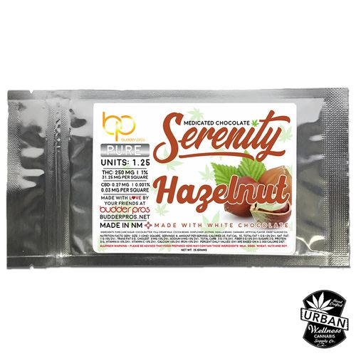 Serenity - Hazelnut Milk Chocolate  250mg